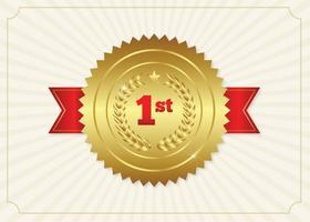 Första plats Ribbon Badge Illustration vektor