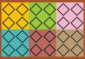 Kvadratiska aztec mönstervektorer vektor