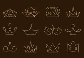 Linjära Golden Crown-vektorer