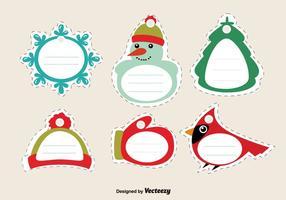 Genähte weihnachtsumbauten vektor