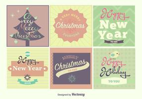 Weihnachten und Neujahrsbeschriftungen
