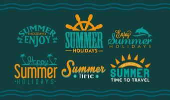 Sommer Urlaubsbeschriftung