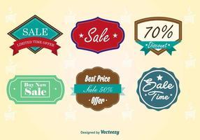 Vintage försäljning märken vektor