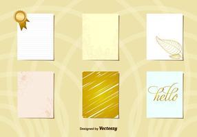 Hälsning Guld vykort layouter vektor