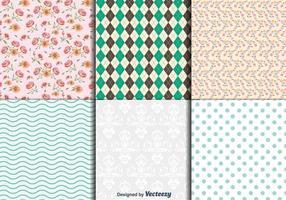 Vintage Floral und geometrische Texturen
