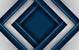 Überlappende Diamantformen mit blauem und silbernem Farbverlauf vektor