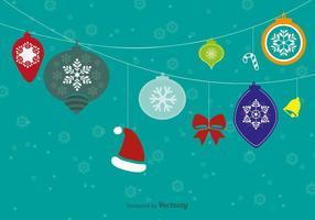 Hängende Weihnachtskugeln vektor