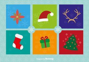Weihnachten Flat Icons