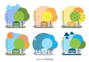 Saisonale Park Illustration