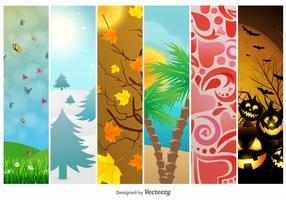 Saison- und Urlaubshintergründe vektor