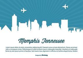 Memphis tennessee skyline illustration vektor