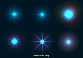 Glänsande stjärn ljus effekter vektor