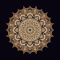 gyllene solmandala design vektor