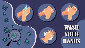 Waschen Sie Ihre Hände, um die Ausbreitung der Krankheit zu beenden