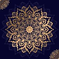 blommig gyllene mandala design vektor