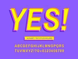 modernes schräges Alphabet mit Offsetdruck vektor