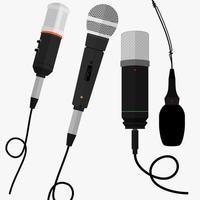 uppsättning mikrofoner vektor