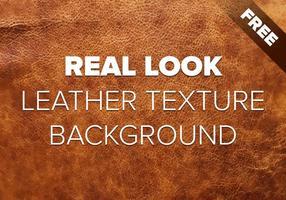 Real Look Vector Läder Bakgrund Textur