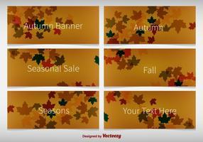 Herbstliche Hintergrundfahnen