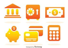 Einfache Bank Icons
