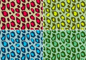 Färgad Leopard Animal Print Vector
