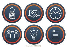 Office Bussiness Ikoner vektor