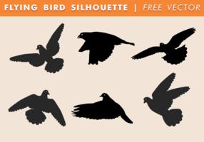Fliegender Vogel Silhouette Free Vector