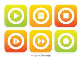 Flache Media Player-Tasten