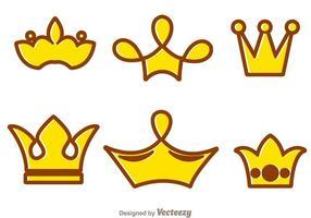 Krona tecknad logotyper vektor