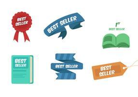 Beste Verkäufer-Bänder und Buch-Vektoren vektor