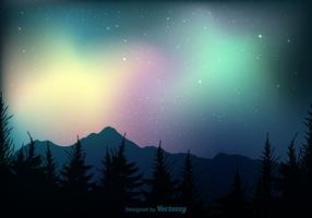 Gratis Northern Lights Vector Background