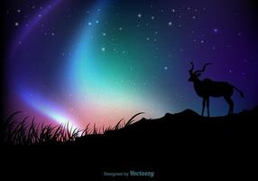 Free Northern Lights Hintergrund Vektor