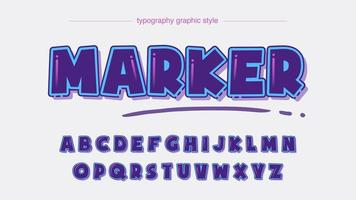 extra fettes lila Cartoon-Alphabet