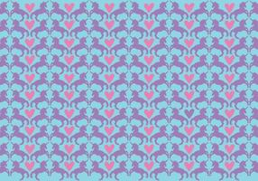 Kostenlose Girly Patterns Vektor Hintergrund
