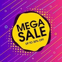ljus geometrisk form försäljning banner mall