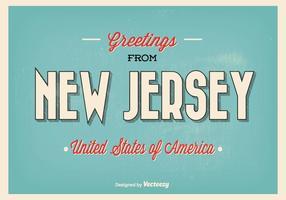 Hälsningar från New Jersey Illustration vektor
