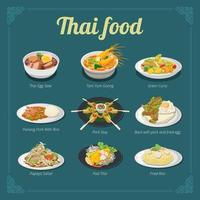 Thai Food Menü Design