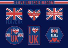 Ich liebe britische Vektoren