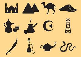 Mittleren Osten Ikonen vektor