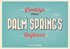 Palm Springs hälsning illustration vektor