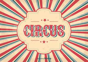 Vintage cirkusaffisch vektor