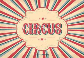 Weinlese-Zirkus-Plakat vektor