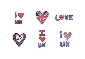 Free Ich liebe UK Vector Series