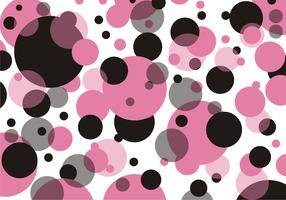 Polka dots mönster fri vektor