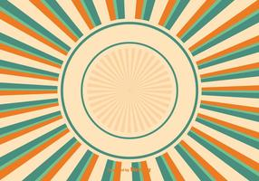 Färgglada Sunburst Bakgrunds Illustration