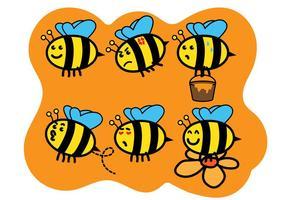 Söt Bee Vektorer