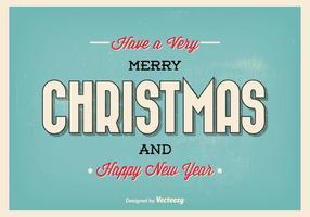 Typografische Weihnachtsgruß Illustration