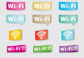 Wi-Fi-etiketter vektor