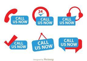 Rufen Sie uns jetzt Red und Blue Icons
