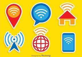 Wifi Färger Logo Vektorer
